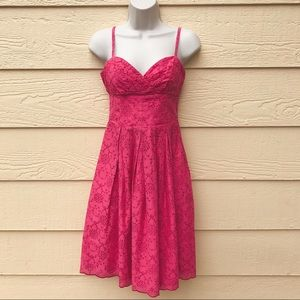 LILLY PULITZER Billie Pink Parade Eyelet Dress